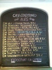 Plasterers Beer list